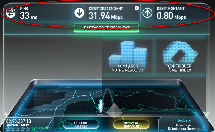 Test de connexion internet