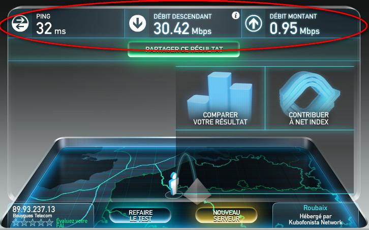 Test débit connexion internet