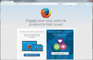 Nouvelle version de Firefox