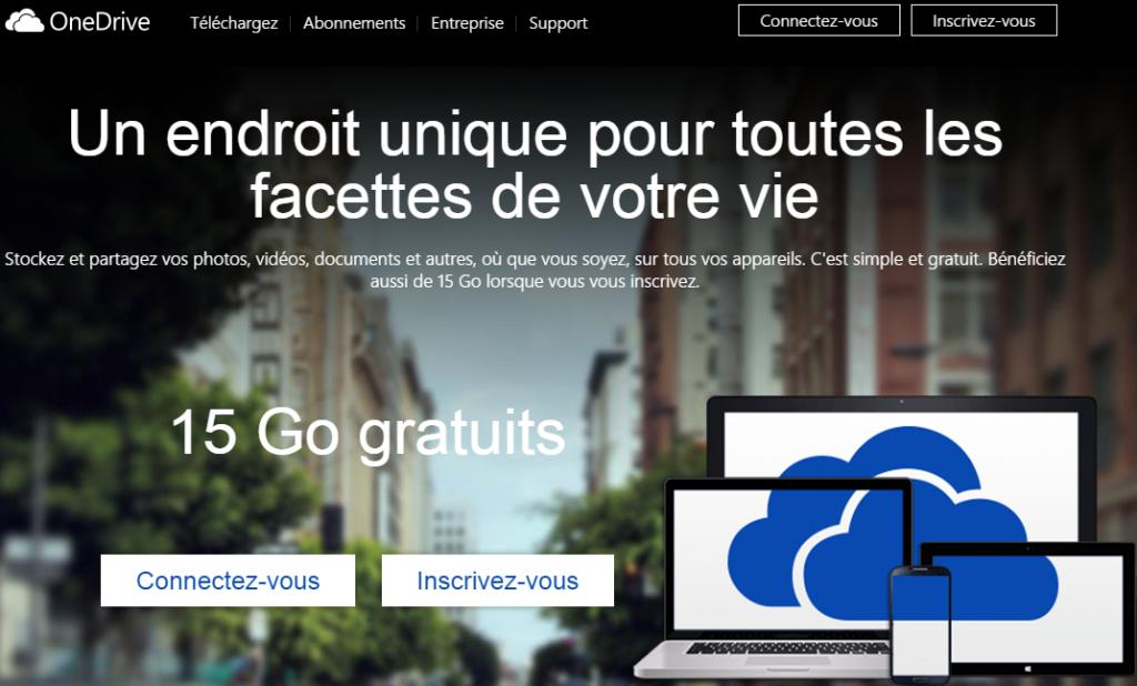 15 Go d'espace stockage cloud gratuit sur OneDrive