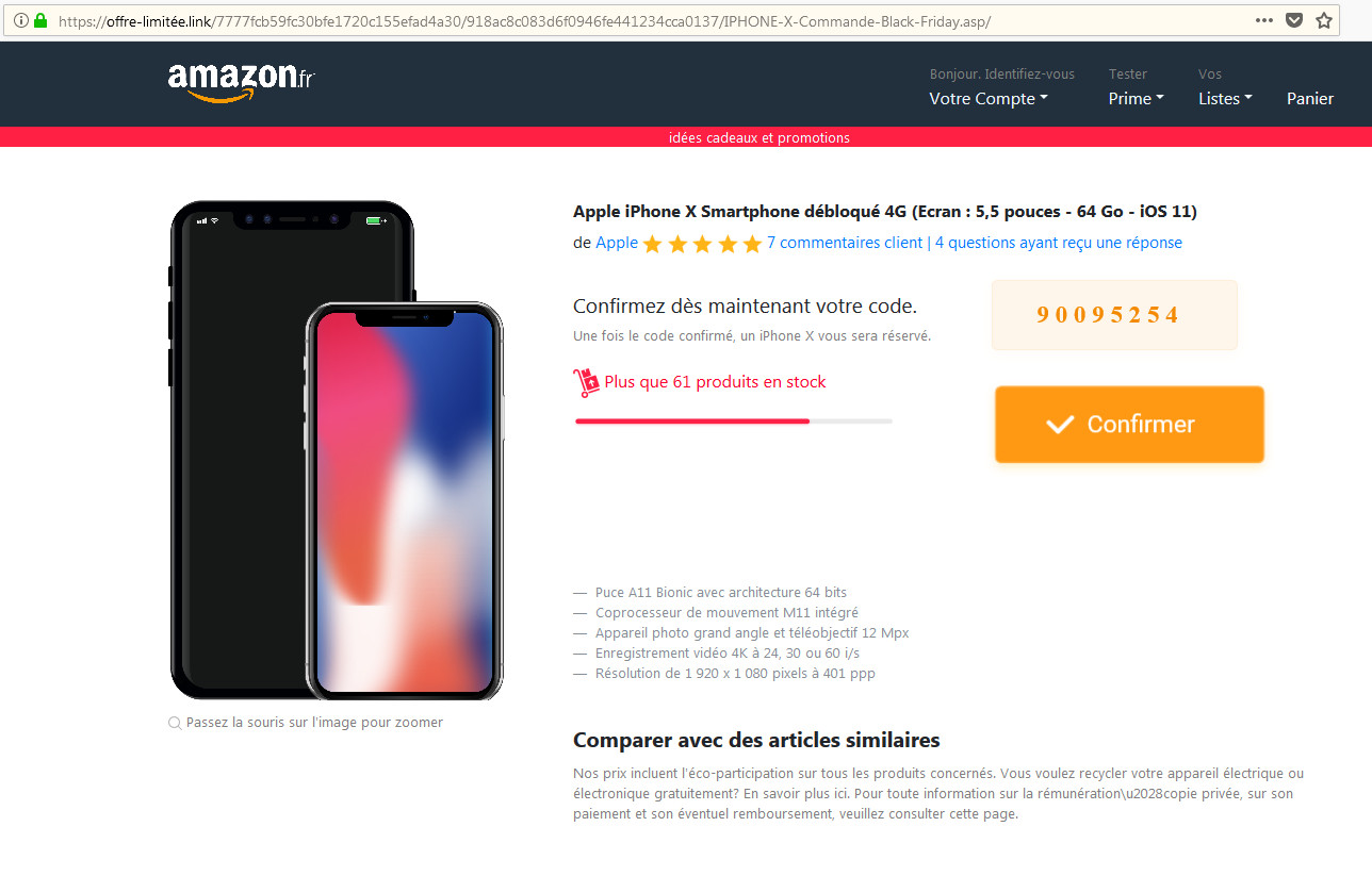 amazon gagner Iphone X