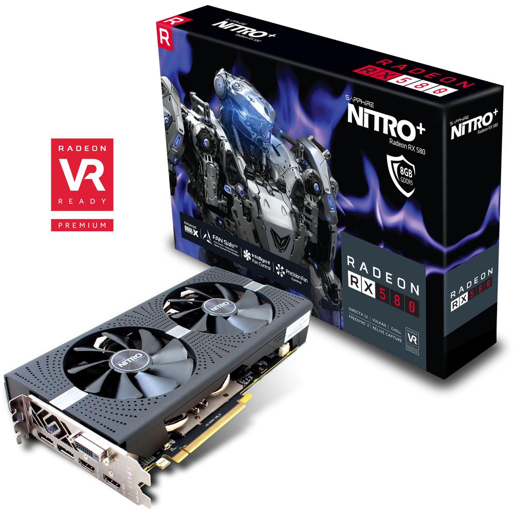 AMD Radeon RX 580 sapphire Nitro+8GO