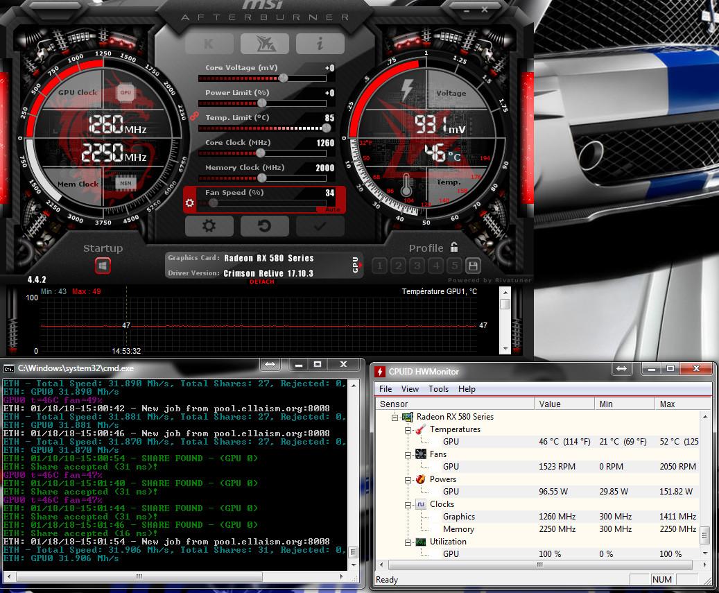 RX580 Sapphire Nitro+ 8GO hynix