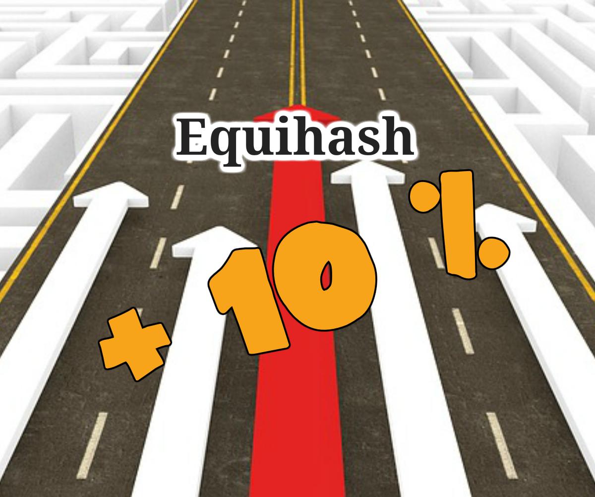 Augmenter la rentabilité sur Equihash de 10 %